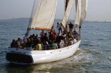 Full Moon Sail aboard Schooner Adirondack II