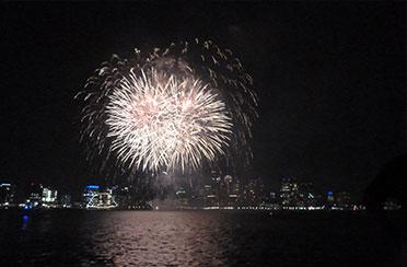 Jamestown Fireworks Cruise aboard Sloop Eleanor